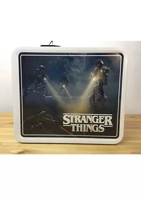"""Stranger Things Metal Lunch Box """"Friends Don't Lie"""" Netflix Target Exclusive NEW"""