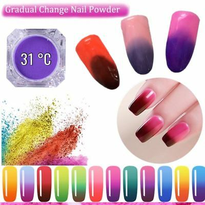 Thermochromic Pigment Thermal Color Change Temperature Nails Powder 31 degree