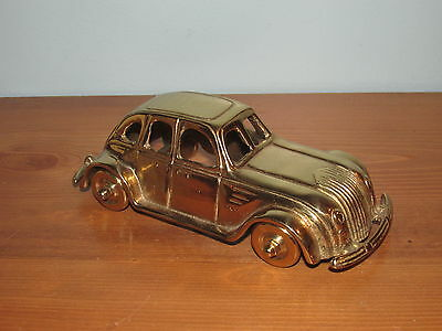 Vintage Brass Car Paper Weight From Ballys Grand Hotel In Las Vegas (G)