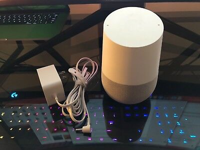 Google Home Smart Speaker Assistant - White Slate