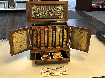 1992 Vintage Franklin Mint Aces & Eights Deluxe Collectors Edition Poker Game