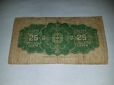 1923 Dominion of Canada 25 Cents Bank Note Fractional Paper Money