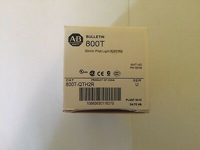 Allen Bradley 800T-QTH2R NIB Red Pilot Light PTT
