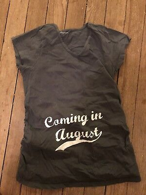 """""""Coming In August"""" Maternity Shirt By Cafepress"""