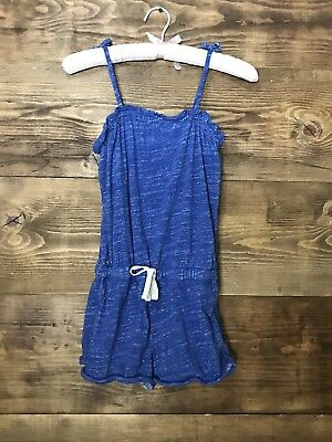 JUICY COUTURE Girls KIDS BLUE ROMPER Summer Short Outfit S SIZE 12