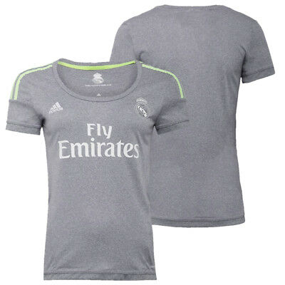 Real Madrid Women's adidas Official Climacool Away football Jersey Top Tee New