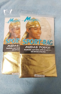 2 packs Gold Du-Rag Durag - One size fits all - Free Shipping