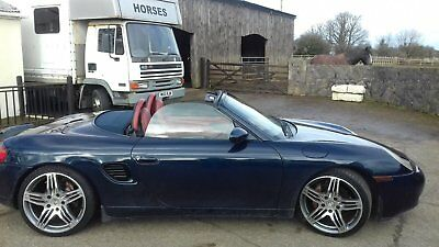 Porsche Boxster 1999 2.5 Manual Convertable in Blue with Red Leather Interior