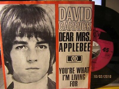 "7"" David Garrick - Dear Mrs. Applebee"