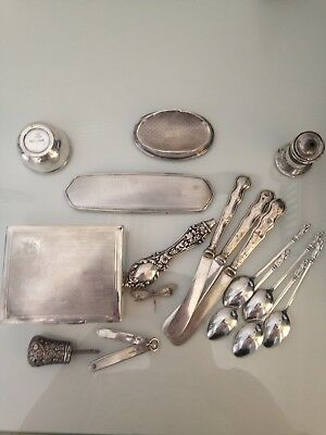 antique solid silver scrap (515g)