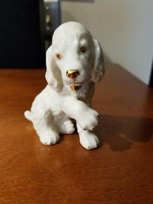 """Lenox Golden Retriever Puppy Dog """"Give Me Your Paw"""" Figurine * FREE SHIP *"""