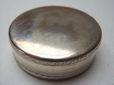 Antique silver plated  Victorian   pill pot with decorated edges