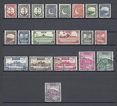 PAKISTAN 1948-57 SG 24/43A USED Cat £100
