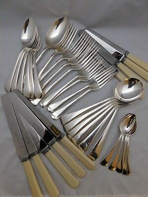 Good Part Canteen Of Old English Silver Plated Cutlery By M.m Henderson