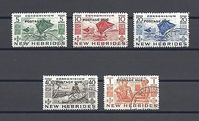 NEW HEBRIDES 1953 SG D11/15 USED Cat £130