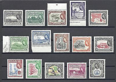 BRITISH GUIANA 1954-63 SG 331/45 MNH Cat £110