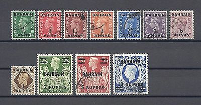 BAHRAIN 1948 SG 51/60A USED Cat £95