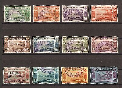 NEW HEBRIDES 1938 SG F53/64 Fine Used Cat £350