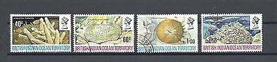 British Indian Ocean Territory 1972 SG 41/44 USED Cat £17