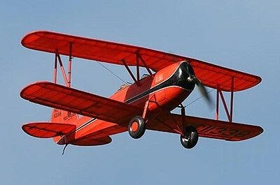 """Model Airplane Plans (RC):  Great Lakes Trainer 1/8 Scale 40"""" .15-.25 (Flyline)"""