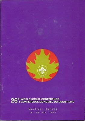 1977 26th World Scout Conference Participant Guide