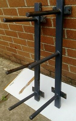 Heavy Duty Weight Plates Weights Storage Wall Racks (pair)