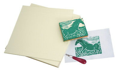 Sax Easy-To-Cut Unmounted Linoleum, 12 x 12 Inches, Pack of 6