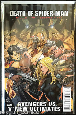 Ultimate Avengers vs New Ultimates Death of Spider-man #5 NM- 1st Print Marvel