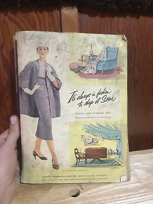 Vintage 1957 Spring Summer  Sears Roebuck Co  Catalog