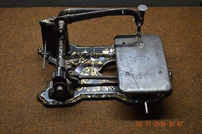 Rare Wheeler & Wilson 1854 Sewing Machine Inlaid Mother Of Pearl * Must See!