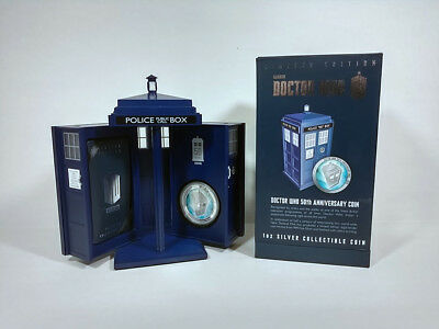 2013 Doctor Who 50th Anniversary 1oz Silver Proof Collectors Coin in TARDIS Case