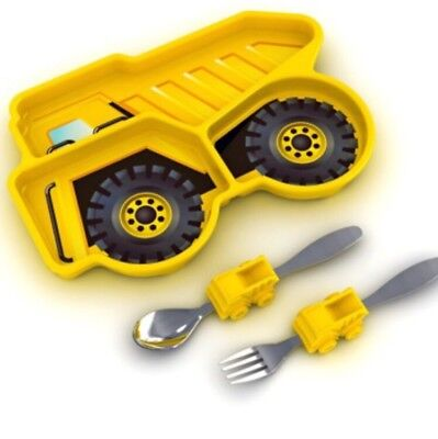 Dump Truck Divided Plate With Fork/spoon