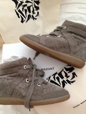 ISABEL MARANT Étoile Bobby suede wedge sneakers - size 38