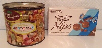 Vintage metal tin Gay Time candy mix & Pearson's Nips collectibles $$$$