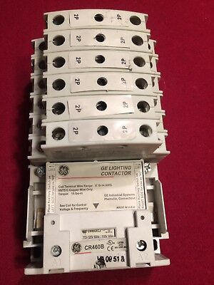 GE General Electric CR460B 120V Coil Lighting Contactor Base