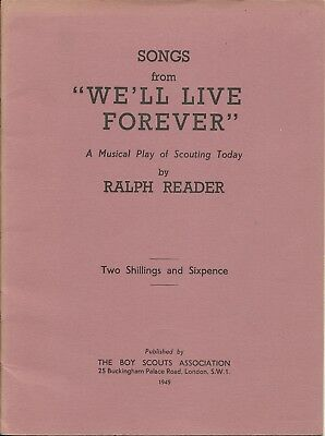 "Ralph Reader Songbook from ""We'll Live Forever"" Scout Gang Show"