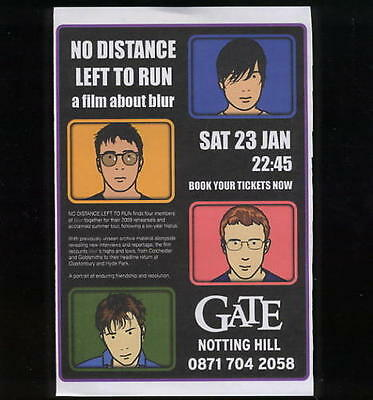 Blur Flyer - No Distance Left To Run - Gorillaz Damon Albarn Graham Coxon