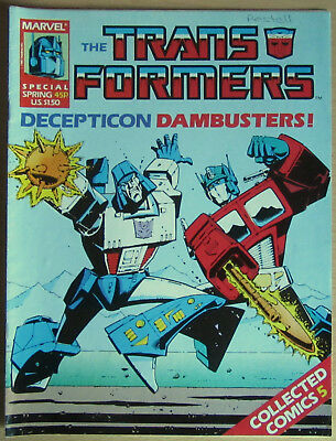 Transformers Spring Special 1987: Collected Comics #5 Marvel UK Decepticon