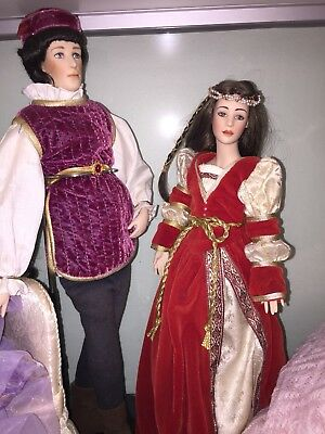 'Romeo And Juliet' Porcelain Dolls - Franklin Heirloom Limited Edition