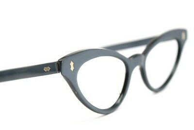 Cat Eye Glasses Gray Vintage Eyewear Unused New Old Stock Frames