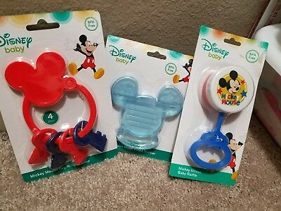 Disney Baby MICKEY MOUSE Key Toy, Teething Keys and Baby Rattle Baby Toy