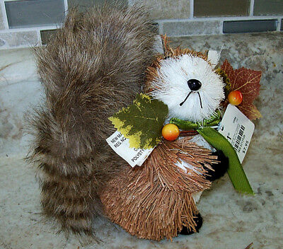 """New Pier 1 Imports Natural Sisal  Squirrel  5"""" Tall"""