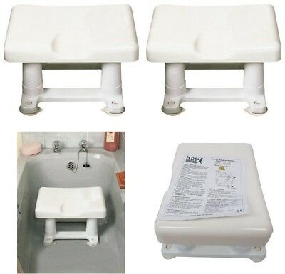 Slatted Bath Shower Seat Bathing Step Stool Secure Mobility Aid