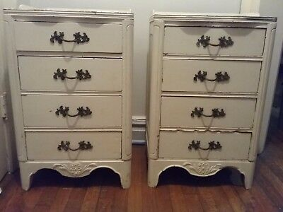 Set of two mid century french style night stands. Pick up Jersey City.