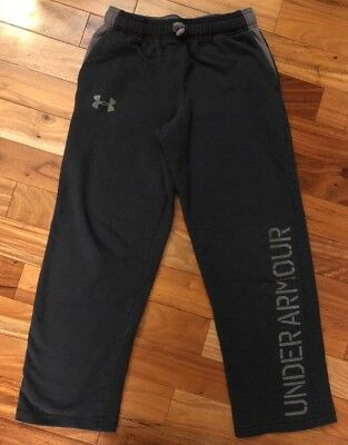 Under Armour Boys Large Ylg    Sweatpants Sweat Pants Loose Gray  Cotton