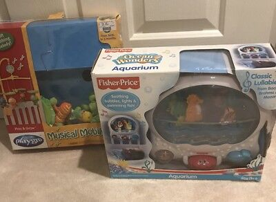 Playgro Baby Mobile and Fisher Price Ocean Aquarium