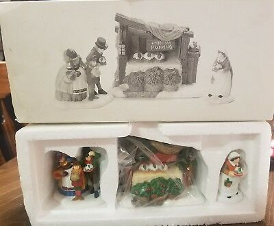 """Department 56 Dickens' Village """"Christmas Pudding Costermonger-Set of 3 """" NEW"""