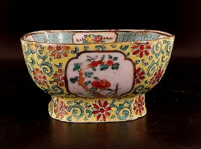 Beautiful Chinese Famille Rose Square shaped Bowl