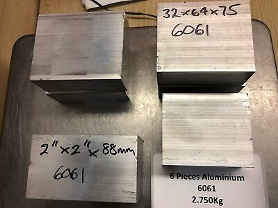 6 x Aluminium Billets - Bar Remnants -  Model Engines Mill Lathe Myford 2.750Kg