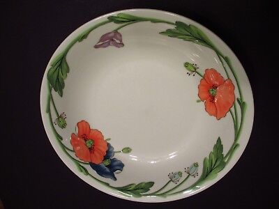 "VILLEORY & BOCH ""AMAPOLA""  Coupe SOUP Cereal Bowl 8 1/8"" Discontinued LOVELY"